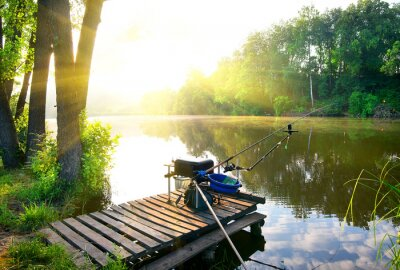 Adesivo Pesca no rio