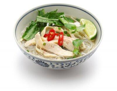 Adesivo Pho ga, sopa de macarrão de arroz de frango vietnamita