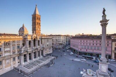 Adesivo Piazza Santa Maria Maggiore, em Roma, Itália.