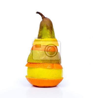 Adesivo Pilha de fatias de frutas