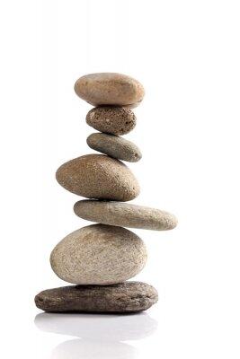 Adesivo Pilha equilibrada de diferentes pedras do rio