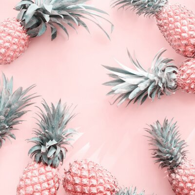 Adesivo Pine Apple Tropical Fruit Pink Natural Organic