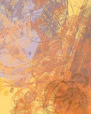 Adesivo Pintura abstrata sobre tela. Arte feita à mão. Textura colorida. Obras de arte moderna. Traços de tinta gorda. Pinceladas. Arte contemporânea. Imagem de fundo artístico.