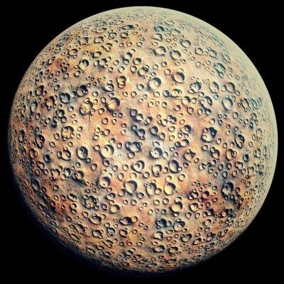 Adesivo Planeta, crateras, pretas