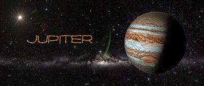 Adesivo Planeta Júpiter no espaço.