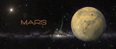 Adesivo Planeta Marte no espaço.