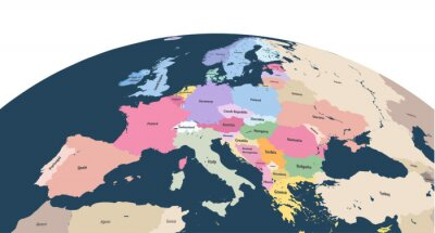 Adesivo planeta vector planeta Terra com close up do continente da Europa