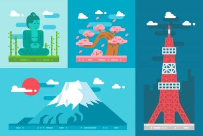 Adesivo Plano, desenho, japão, marcos, jogo
