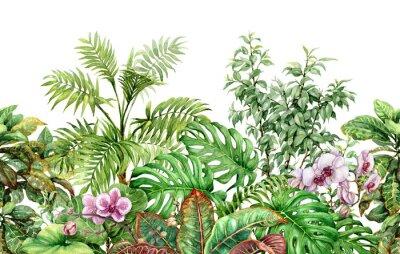 Adesivo Plantas tropicais linha padrão sem emenda