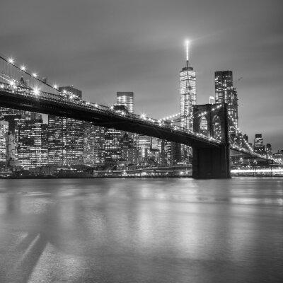 Adesivo Ponte de Brooklyn no crepúsculo, New York City.
