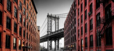 Adesivo Ponte de Manhattan da rua de Washington, Brooklyn