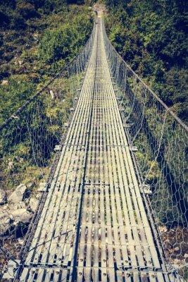 Adesivo Ponte de suspensão de metal.