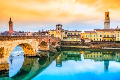 Adesivo Ponte di Pietra em Verona, Itália