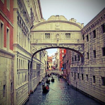 Adesivo Ponte dos suspiros em Veneza com gôndolas