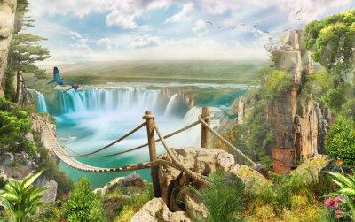 Adesivo Ponte sobre a cachoeira