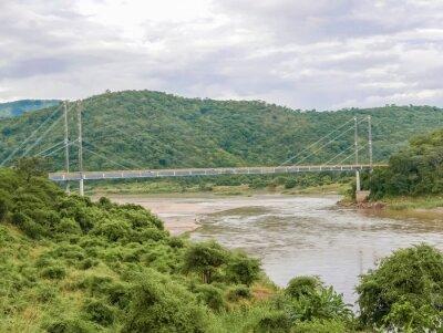 Adesivo Ponte sobre o rio Luangwa, na Zâmbia