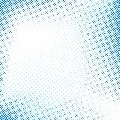 Adesivo Pontilhado azul abstrata retro fundo