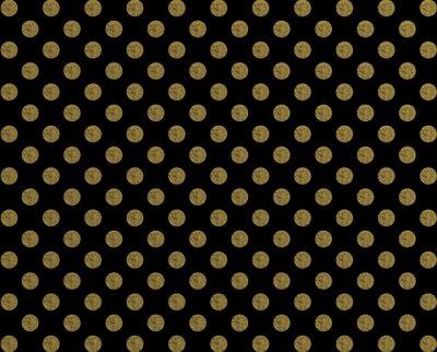 Adesivo Ponto dourado do teste padrão da polca