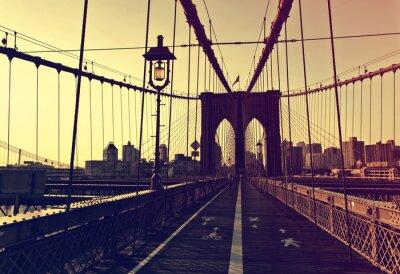 Adesivo Pôr do sol, afterglow, frente, brooklyn, ponte