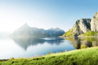 Adesivo Pôr do sol em Lofoten ilhas, Noruega