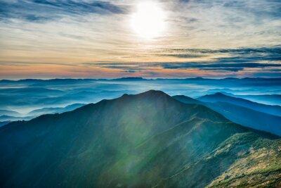 Adesivo Pôr do sol, montanhas