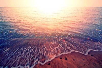 Adesivo Pôr do sol sobre o mar.