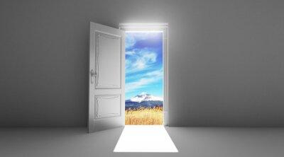 Adesivo Porta aperta su campo