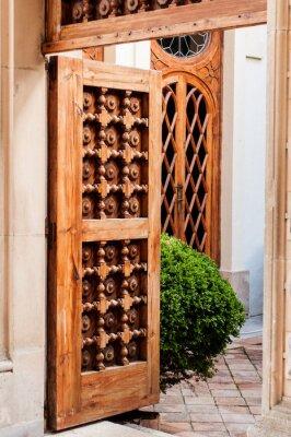 Adesivo Porta de madeira velha