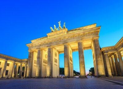 Adesivo Portão de Brandemburgo, à noite - Berlim - Alemanha