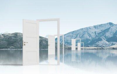 Adesivo Portas abertas no campo