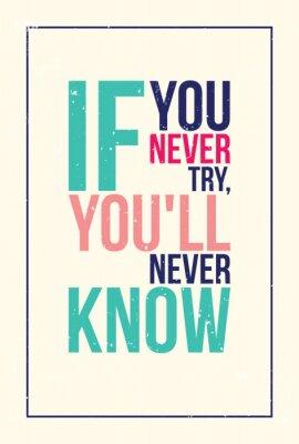 Adesivo poster colorido inspiração motivação. Estilo Grunge