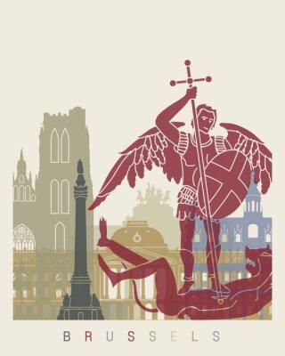 Adesivo Poster da skyline de Bruxelas