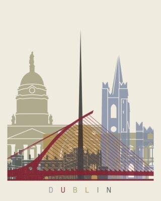 Adesivo Poster da skyline de Dublin