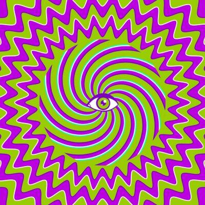 Adesivo Poster retro hipnótico