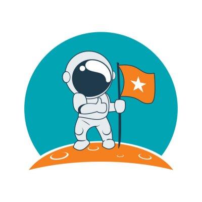 Adesivo Pouco sucesso do astronauta na missão da lua