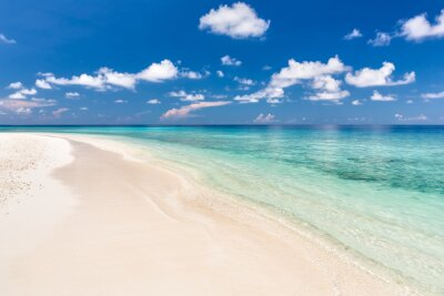 Adesivo Praia bonita do oceano em Maldives