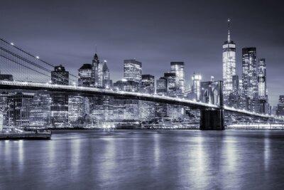 Adesivo PREÇO / INFO Adicionar à Mesa de Luz Manhattan, Brooklin, ponte, noturna, Novo, York, cidade