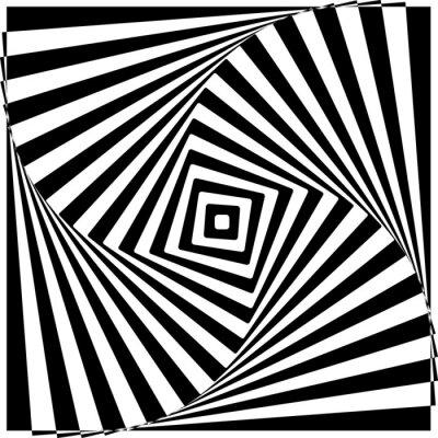 Adesivo Preto e branco da ilusão óptica ilustração vetorial.