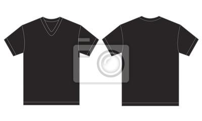 e375a6581f33a Preto v-neck modelo de design da camisa para os homens laptop ...
