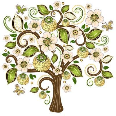 Adesivo Primavera árvore decorativa