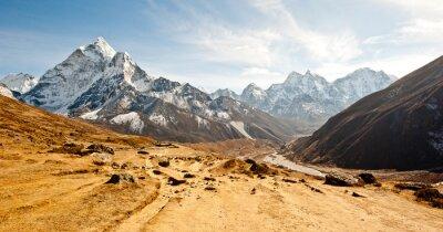 Adesivo Profundo, vale, Himalaya, montanhas