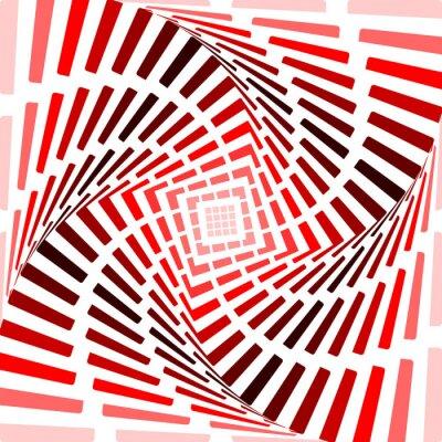 Adesivo Projete twirl vermelho ilusão movimento de fundo. Resumo tira a