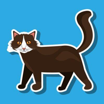 Adesivo Projeto bonito do gato
