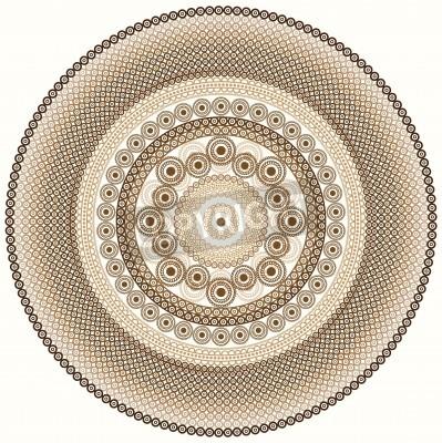 Adesivo Projeto colorido da mandala do Henna