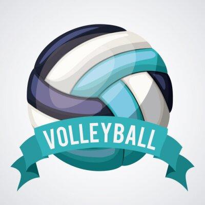 Adesivo Projeto da liga do voleibol