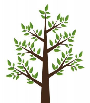 Adesivo Projeto da planta da árvore