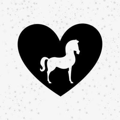 Adesivo Projeto da silhueta do cavalo