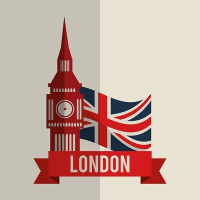 Adesivo Projeto do ícone de Londres