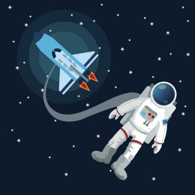 Adesivo Projeto do ícone do espaço