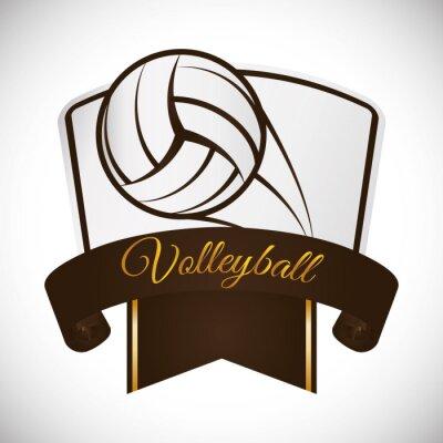Adesivo Projeto do ícone do voleibol